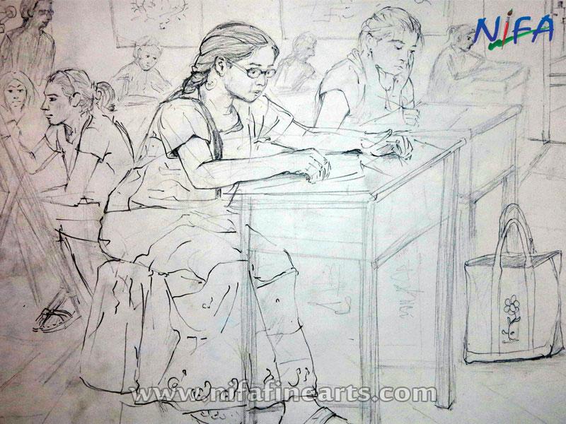 ENTRANCE PREPARATION FOR B.F.A, Nifa Fine Arts, Delhi NCR